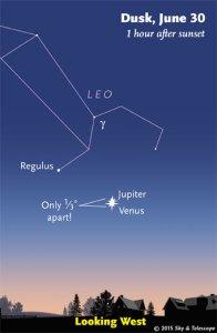 Sky 06.30.15 Venus Jupiter